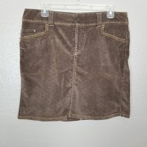 Am Eagle Brown Brushed Cotton Mini Skirt Size 8